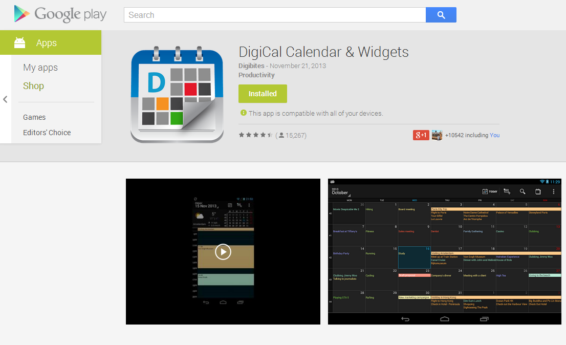 Why did I get a download error from the Google Play Store? – DigiCal