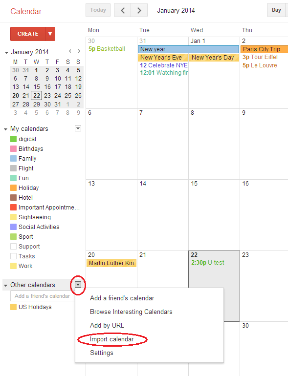 Kin Calendar.How Do I Import Ics Ical Csv Files Into Google Calendar Digical
