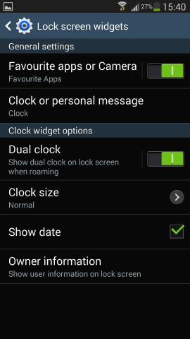 how to delete lock screen widgets galaxy s4